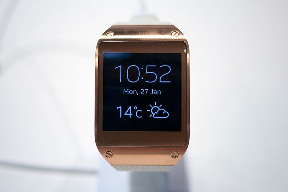 The Samsung Galaxy smartwatch, one of the recent releases in mobile wearables.