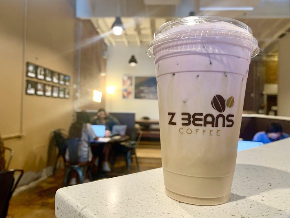 """A purple """"bestie latte"""" from Z Beans."""