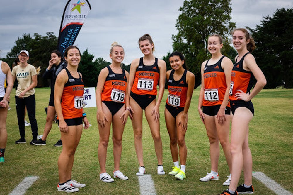 <p>Mercer Women's Cross Country team posing before the race at the North Alabama Showcase at John Hunts Park. Photo provided by North Alabama Showcase.<br/><br/></p>