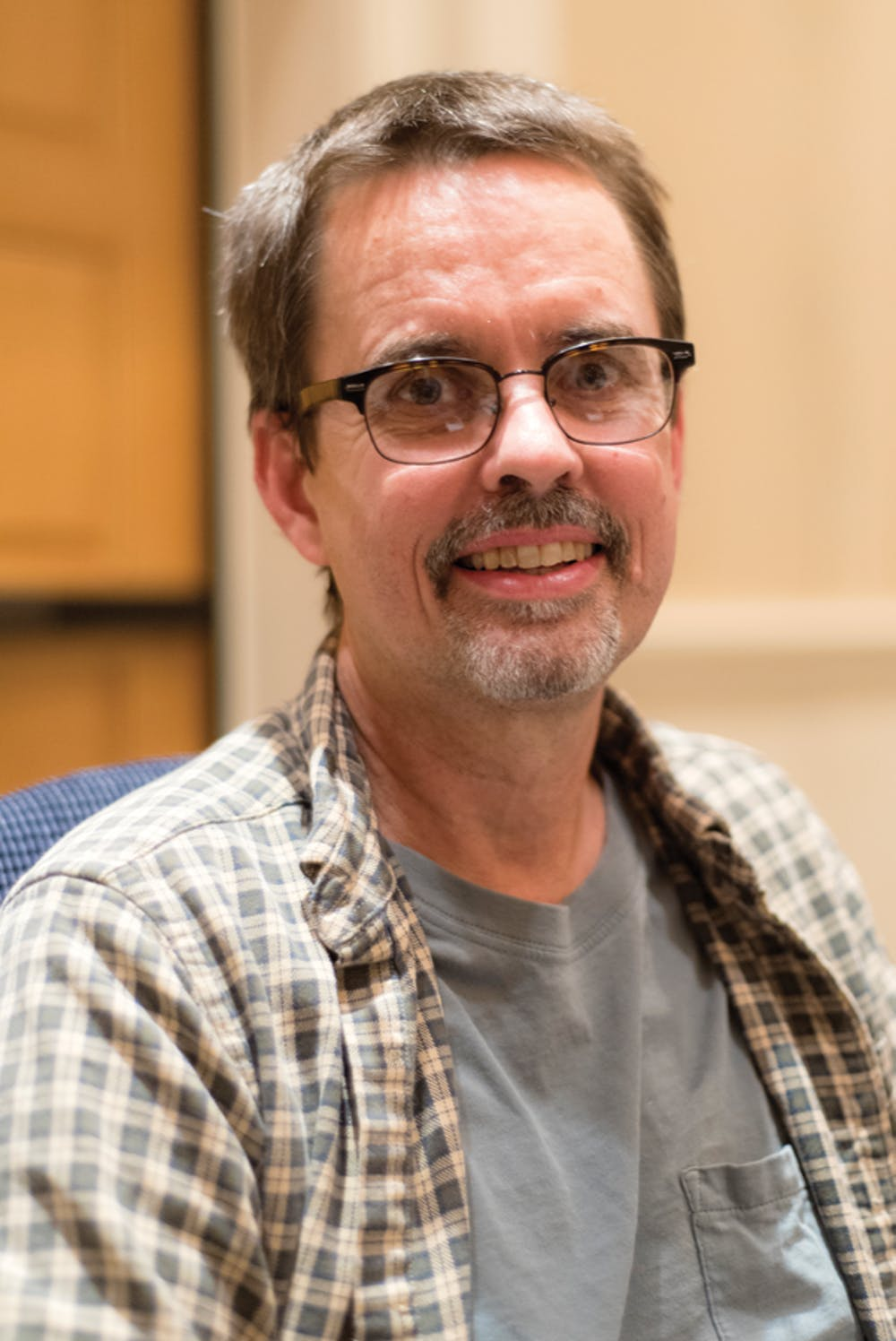 """Dr. David Nelson, Mathematics professor,  received the 2016 """"Professor of the Year"""" Award at the Student Awards dinner."""