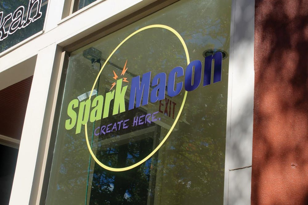 The SparkMacon logo at their location in downtown Macon.