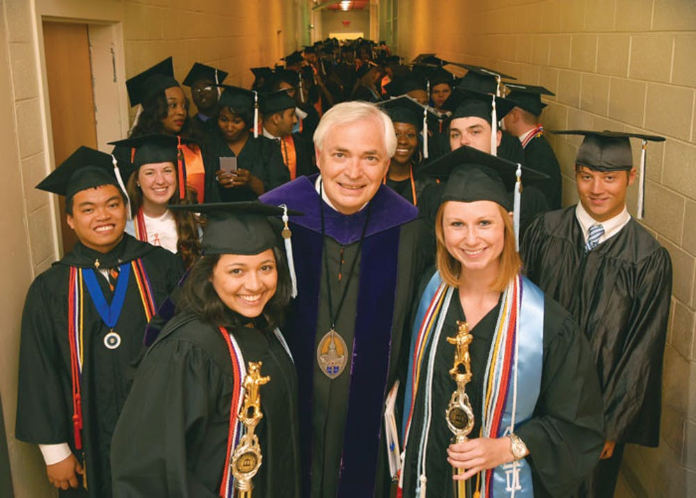The Macon graduation ceremony has been moved to Five Star Stadium for 2019. Students will get eight to 10 tickets for their guests, but the ceremony is now scheduled for a Monday morning. Photo by Mercer University Marketing Communications.