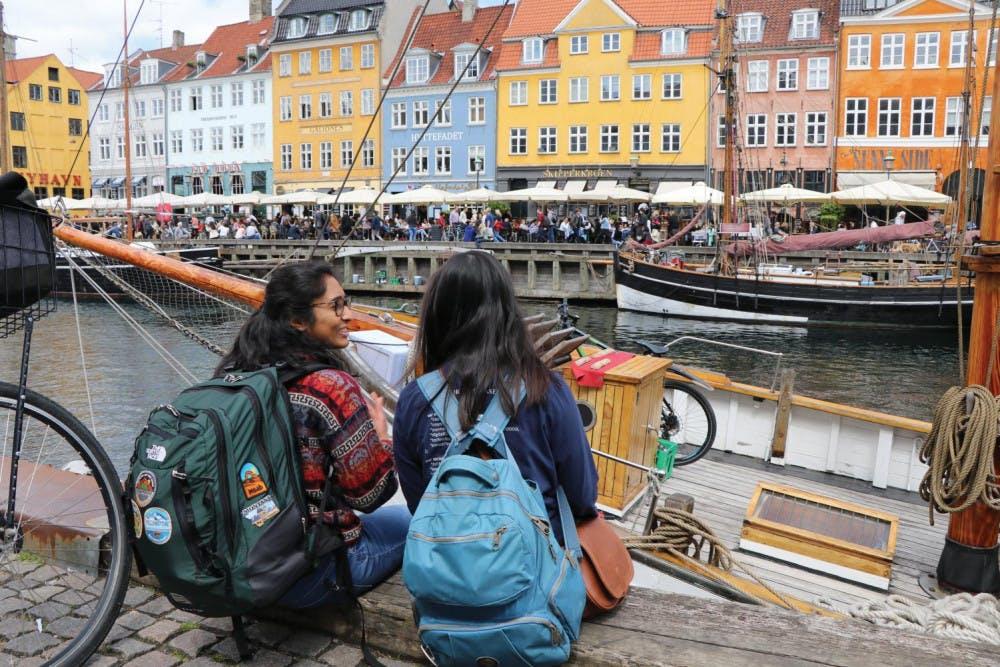 Shailey Shah and a friend explore Copenhagen during Shah's RISE Germany internship. Photo provided by Shailey Shah.