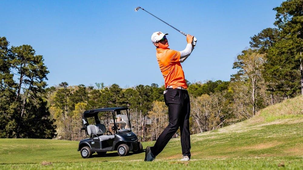 <p>Mercer golfer Martin Plukka. Photo by Stephen Waldman.</p>