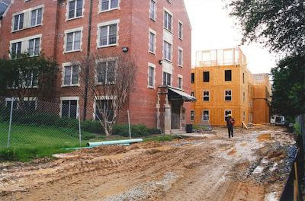 Delays on construction for Mercer Hall in 2001 caused around 200 students to have to move into hotels 6.5 miles off of campus.