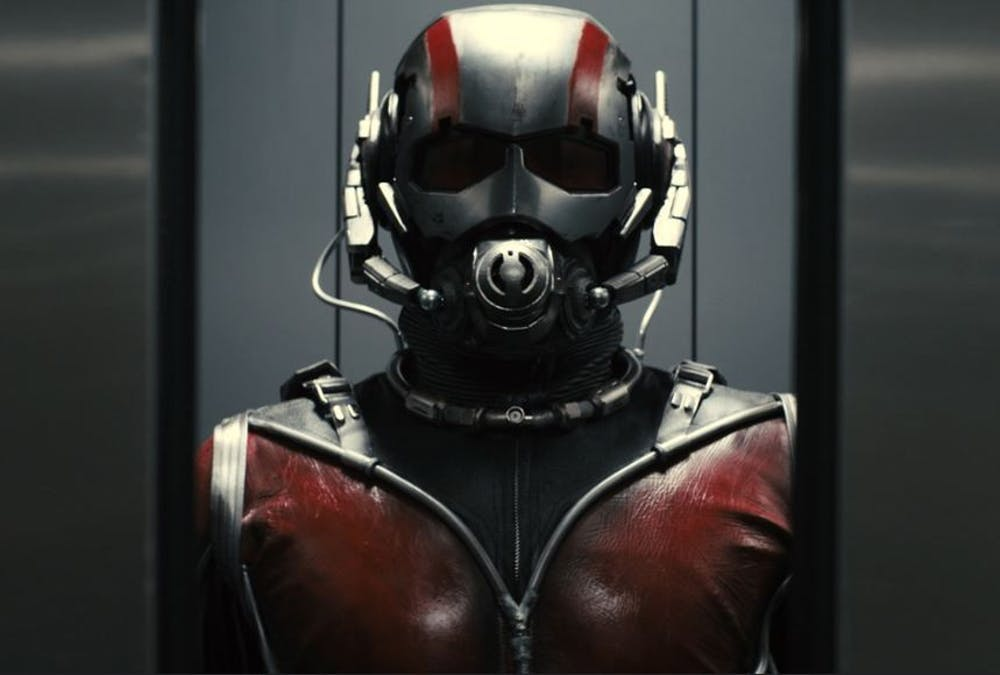 Photo provided by Flickr. The Ant-Man suit sits empty.