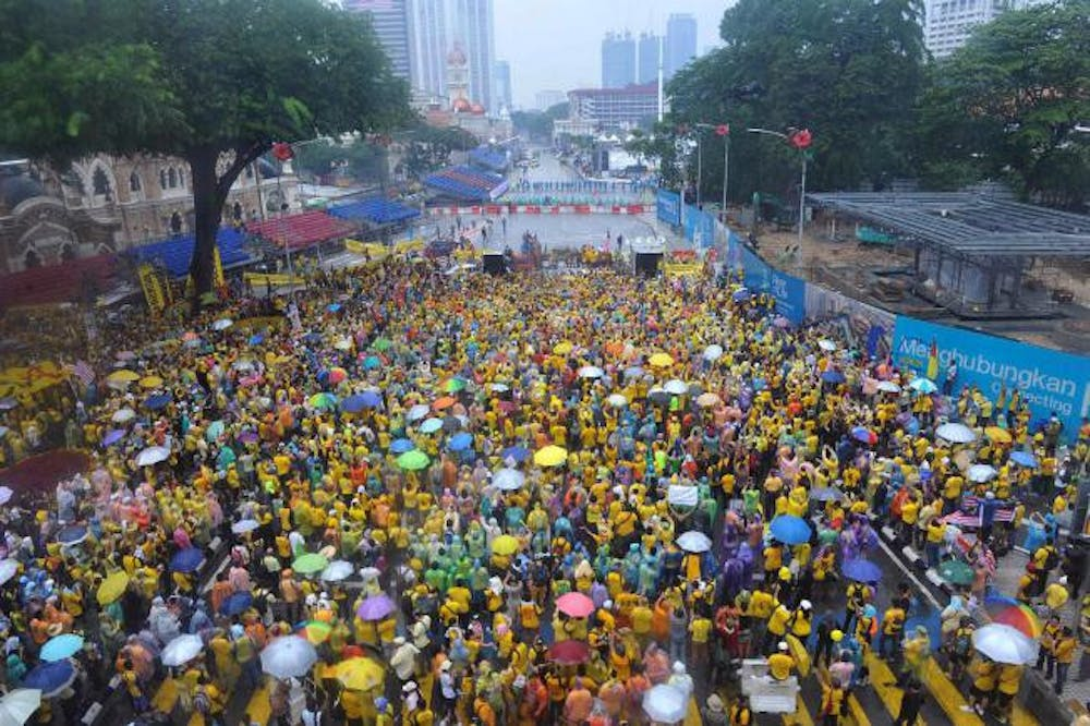 Protesters Gather in the Streets of Malaysia over Weekend