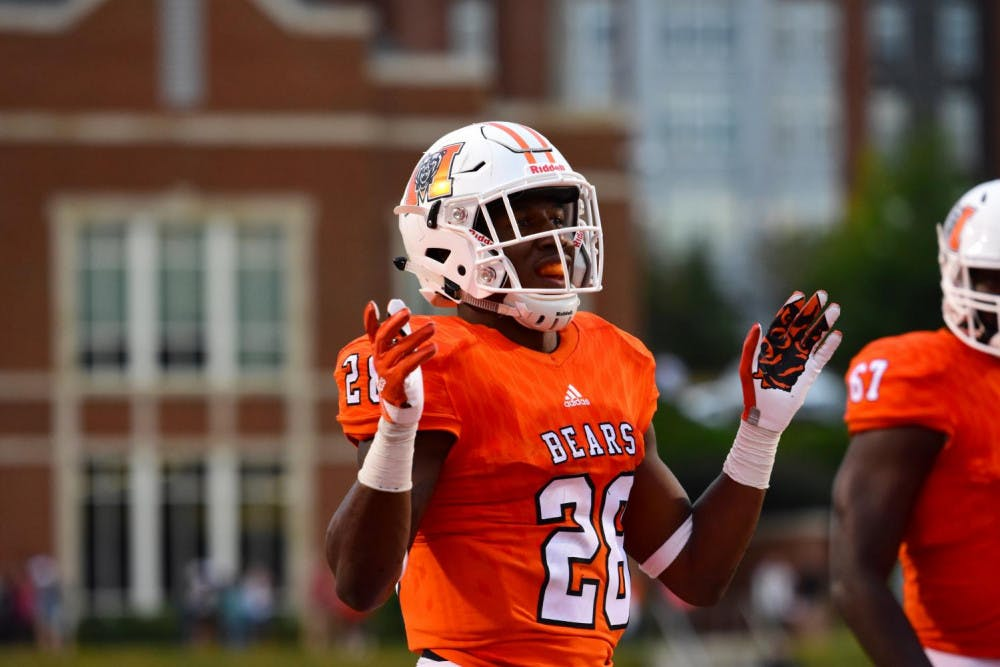 Tee Mitchell (#28) in Mercer's game against Western Carolina. Photo by Mitch Robinson.