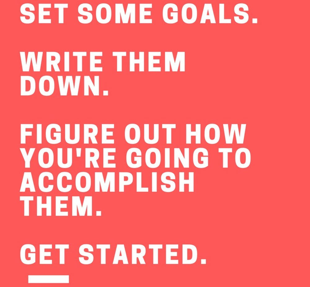 """Gail Matthews at Dominican University said, """"Those who wrote down their goals accomplished significantly more than those who did not."""""""