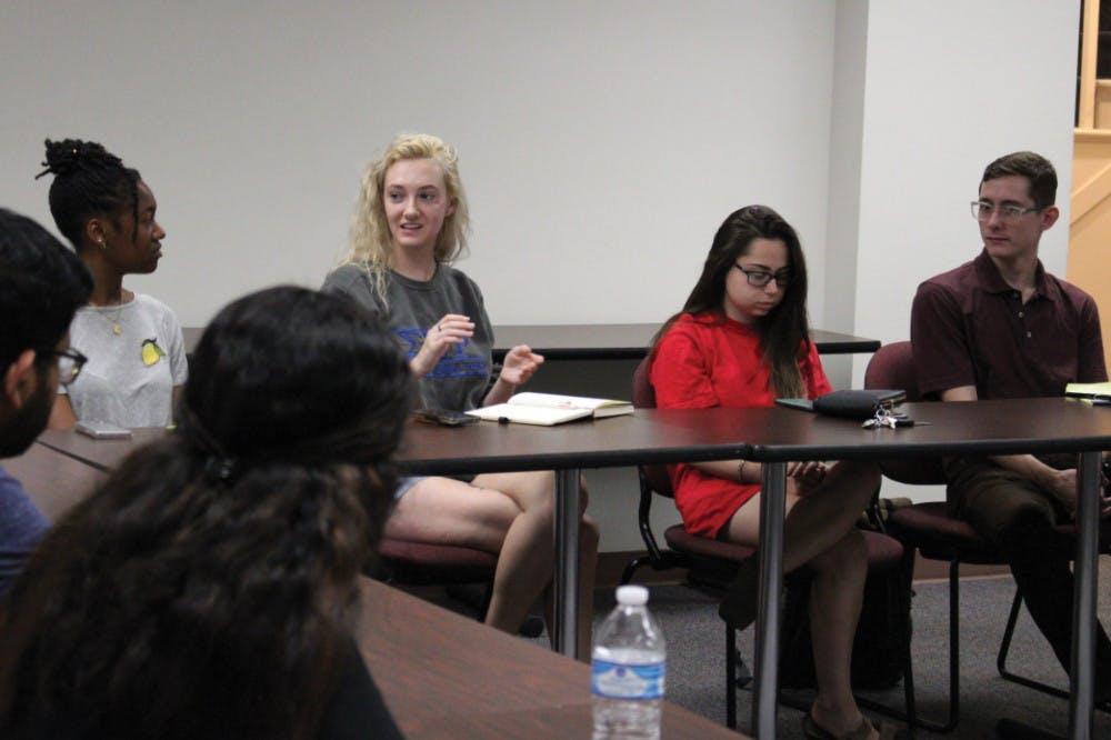 BEARS club members participate in a weekly meeting.