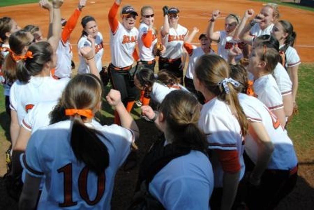 (photo courtesy of MercerBears.com) The softball team hopes to extend their recent hot streak into A-Sun play in March.