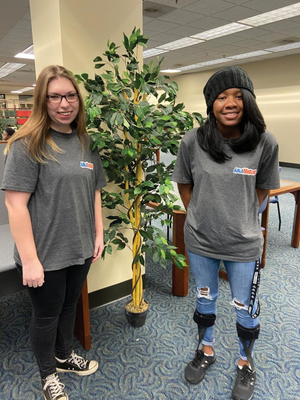 Sarah Carter (left) and Ashley Pettway (right) are co-presidents of ABLE Mercer, a club dedicated to advocating and advising students with disabilities on Mercer's campus.