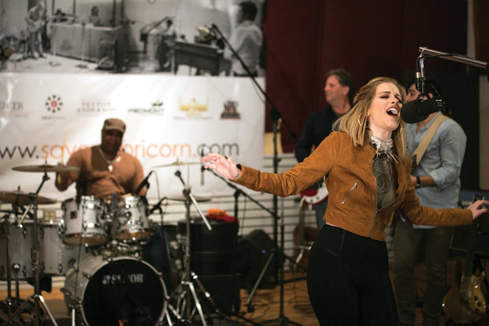 """Betty Cantrell records a song for """"Save Capricorn."""" Her and Jonathan Wyndham are both recording new songs to raise money to restore the historic Capricorn Studios."""