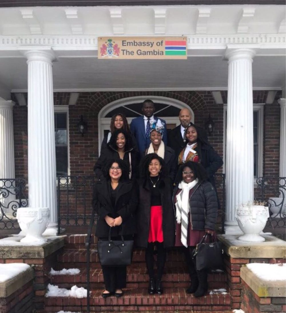 Mercer's Model African Union team in Washington representing Gambia.