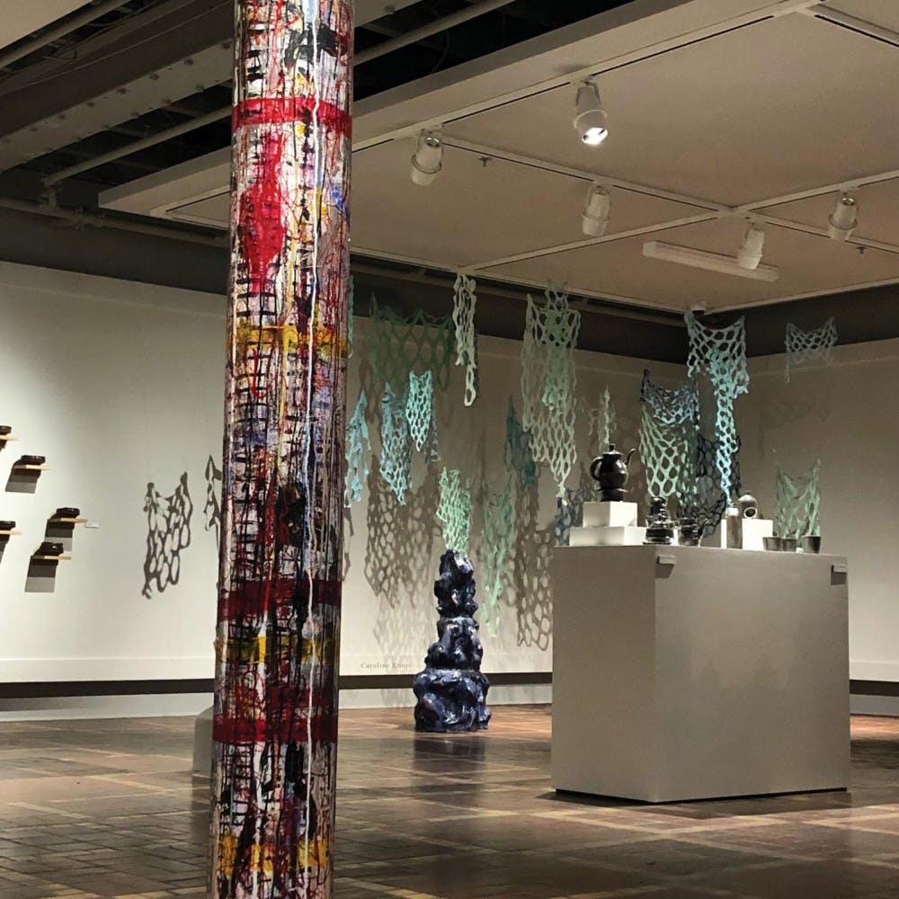 The most recent exhibit, TAUT, at the McEachern Art Center.