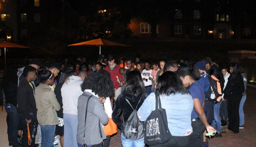 Mercer students host vigil to reflect on recent events at the University of Missouri.