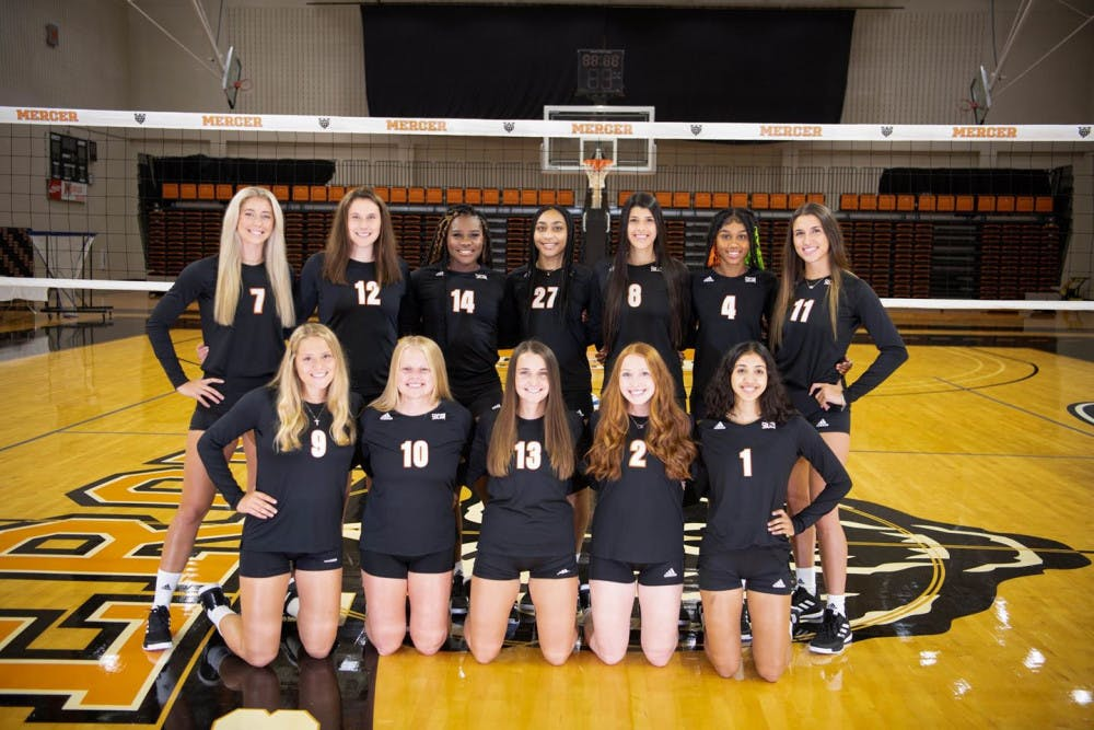Members of the 2021-2022 Mercer volleyball team. Photo provided by Mercer Athletics.