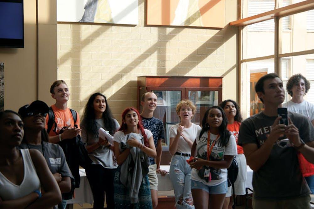 Mercer students anticipate this year's freshman senator election results.