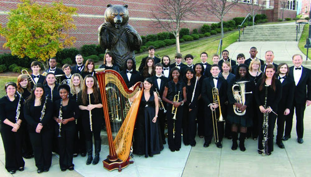 The Mercer Wind Ensemble will be playing with Central and WestsideHigh School Symphonic Bands in April Showers Bring Musical Flowers.