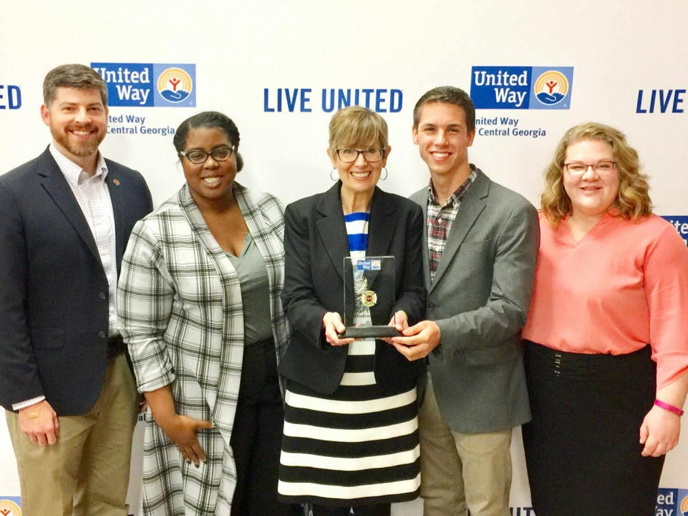 The United Way of Central Georgia presented Mercer with the Lt. Randy Parker Memorial Volunteer of the Year Award. This award was unique because it was presented directly to the student body.