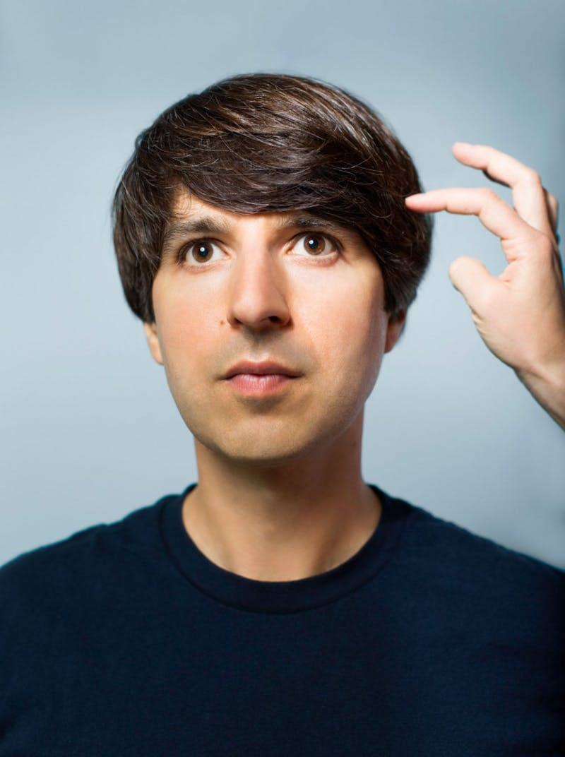 "Comedian and palindrome-lover Demetri Martin is performing his new special, ""The Persistence of Jokes,"" at the State Theatre on Saturday."