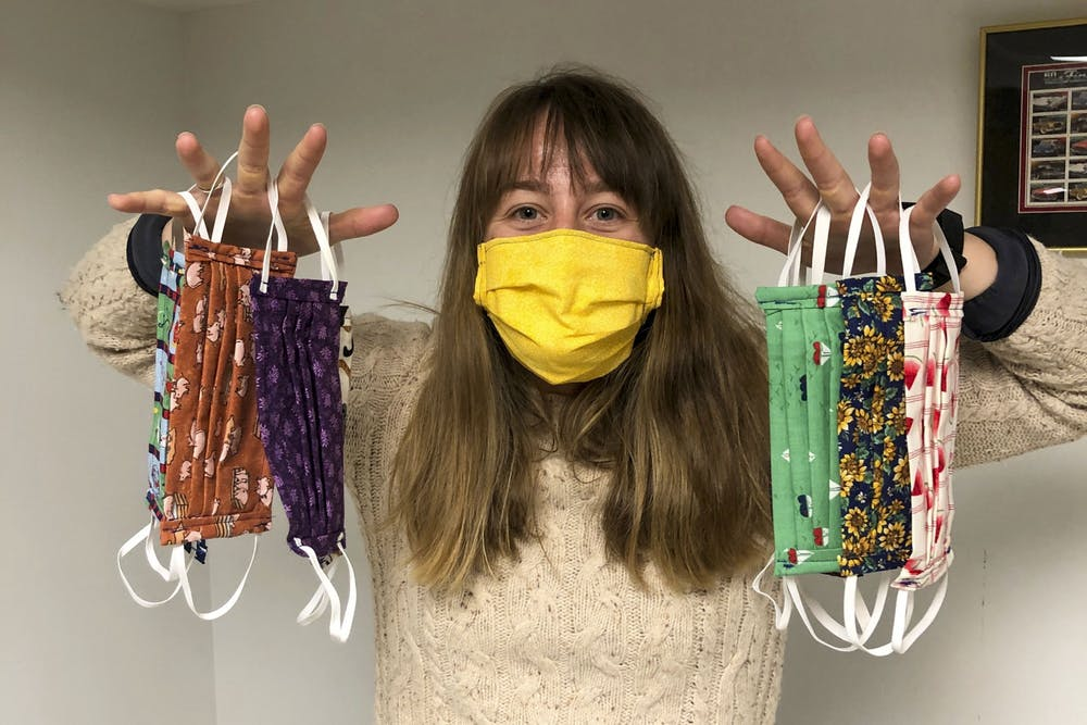 Rowing and sewing: Gophers rower makes masks to help fight pandemic