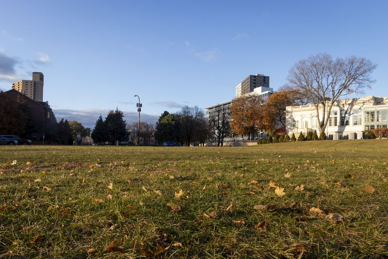 The site of a proposed development in Marcy Holmes as seen on Monday, Nov. 4.