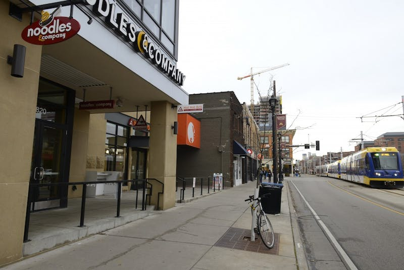 A University of Minnesota student reported an being assaulted at 820 University Avenue on Nov. 14, pictured here on Monday, Nov. 20 in Minneapolis.