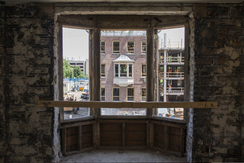 Pioneer Hall renovations on target for halfway point