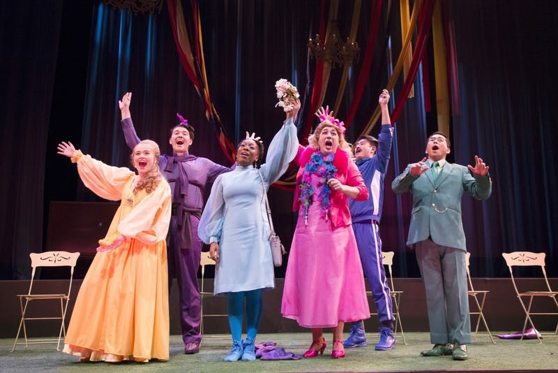 "The cast of Benjamin Britten's, ""Albert Herring"" performs on Friday, Nov. 16 at Ted Mann Concert Hall."