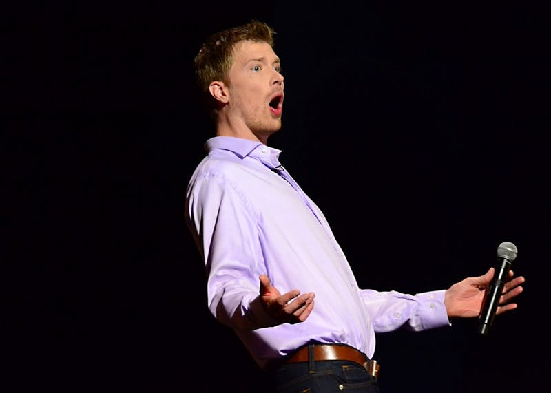 "Comedian Shane Mauss will perform at Acme Comedy Company on Tuesday. He's touring behind his latest special, ""A Good Trip."""