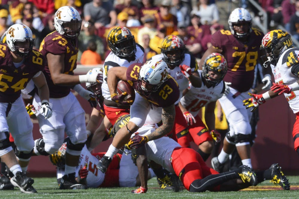 Gophers using three different running backs for matchup against Iowa