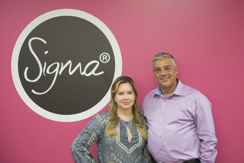 """Founders of Sigma Beauty, Simone Xavier and Rene Xavier Filho in the company offices in Mendota Heights on Friday, October, 7, 2016. Xavier said transitioning from being a professor to running a business has been a challenge every day. """"That's why we innovate, nothing we do is conventional,"""" she said."""