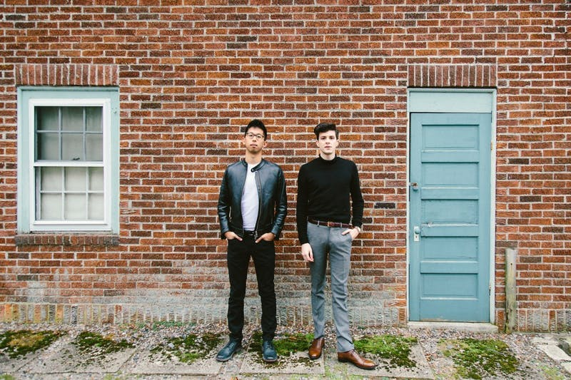 Sam Lee, left, and Alex Caplow will be performing on April 26 at Varsity Theater.