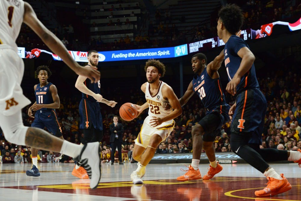 Second half scoring runs lift Gophers over Fighting Illini