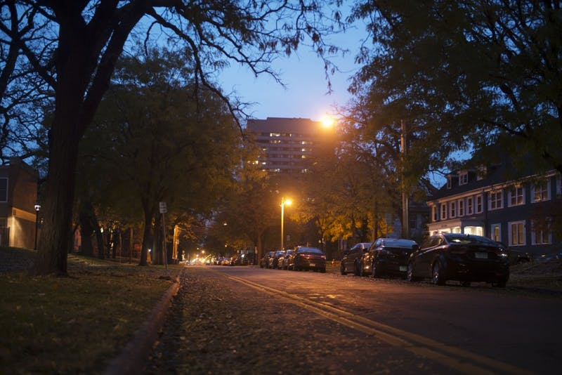 5th St SE in Dinkytown as seen on Tuesday, Oct. 30.