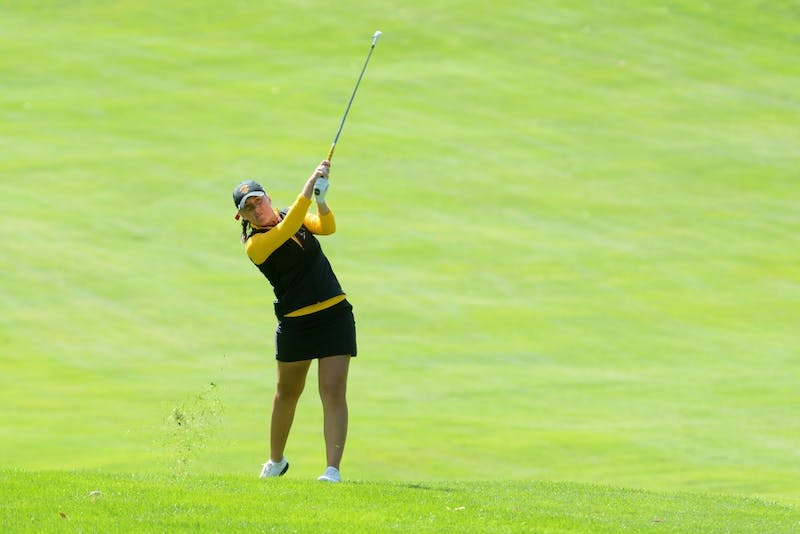 Junior Heather Ciskowski plays at the fourth annual Minnesota Invitational on Tuesday, Sept. 13, 2016 at the Minikahda Club. Ciskowski tied for third place and the Gophers placed ninth in the season-opener tournament overall.