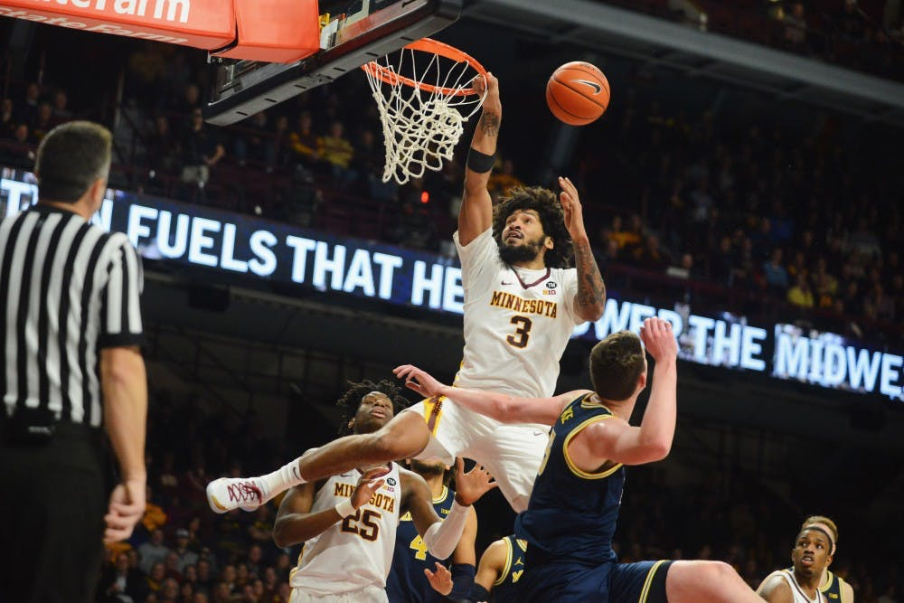 Gophers drop rematch with Michigan 69-60