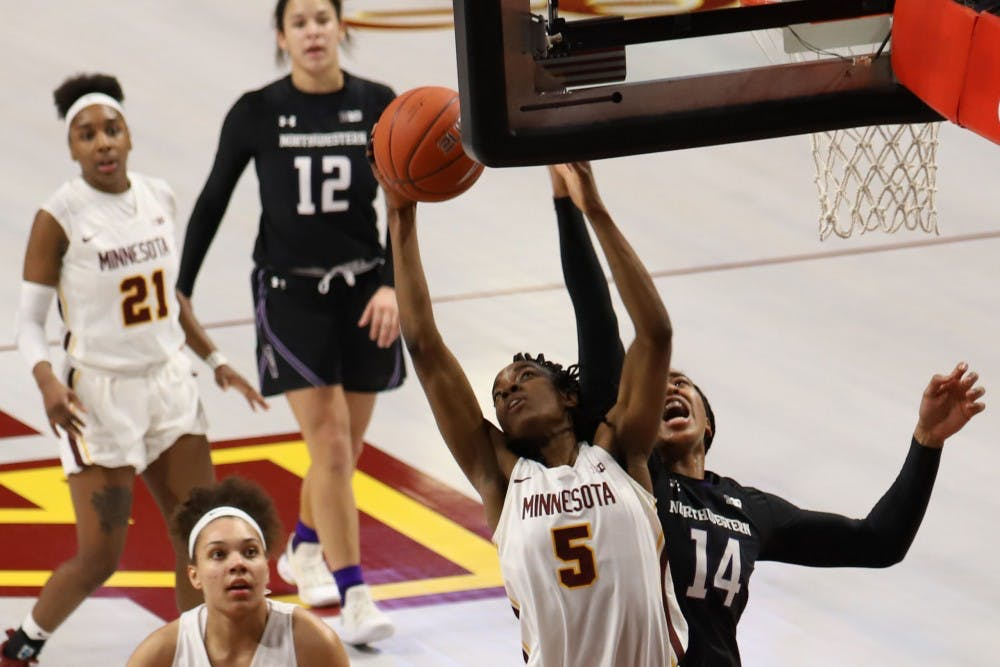 Gophers triumph over Northwestern in overtime