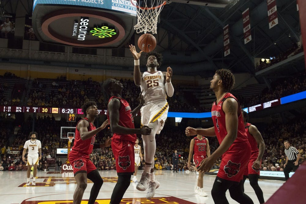 Gophers roll over Arkansas State 72-56