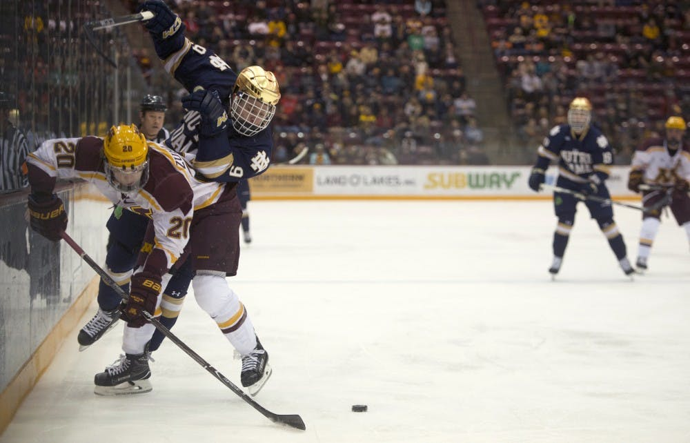 Gophers blown out by Notre Dame in second game of series