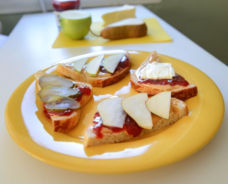 Updated versions of the classic PB&J make for a zestier take on lunchtime. Adding pickles, apples, pears, or brie cheese are just a few ways to enhance your sandwich.