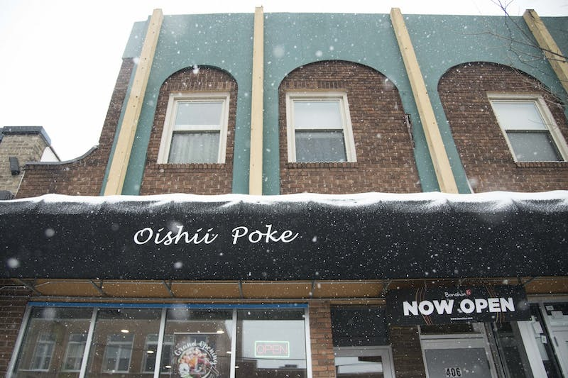 Oishii Poké, soon to be the Mango Mango dessert shop, in Dinkytown as seen on Sunday, Dec. 1.