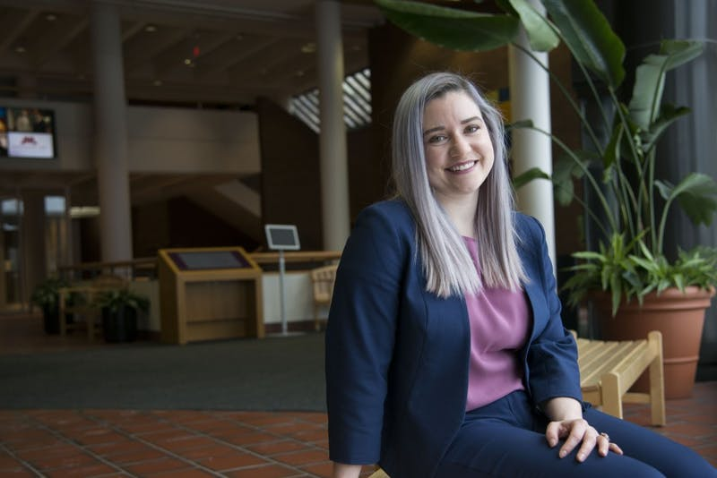 Emily Ortlieb poses for a portrait on Saturday, Feb. 9 at Mondale Hall on West bank. Ortlieb serves as a certified student attorney for a new clinic for immigrants at the University's law school.