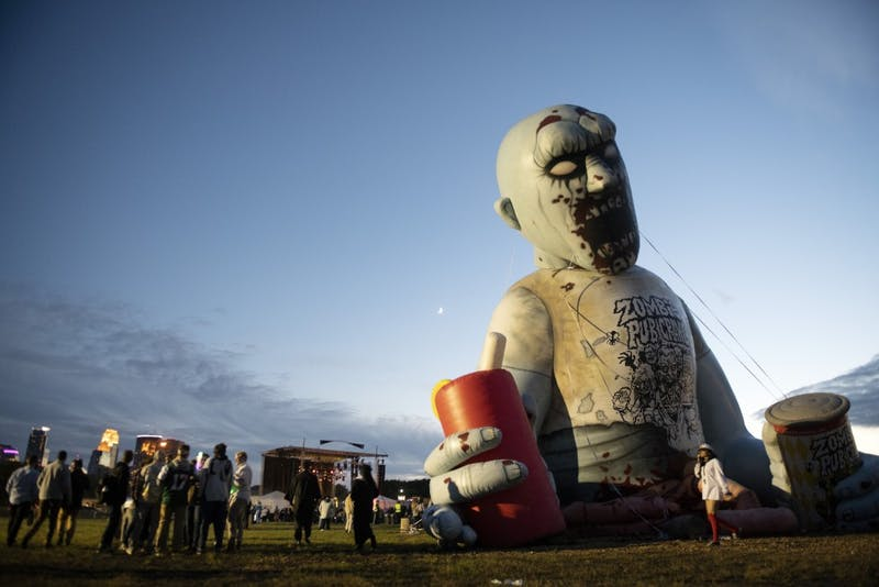 The entrance to the Zombie Pub Crawl is seen on Saturday, Oct. 13 in Northeast Minneapolis.