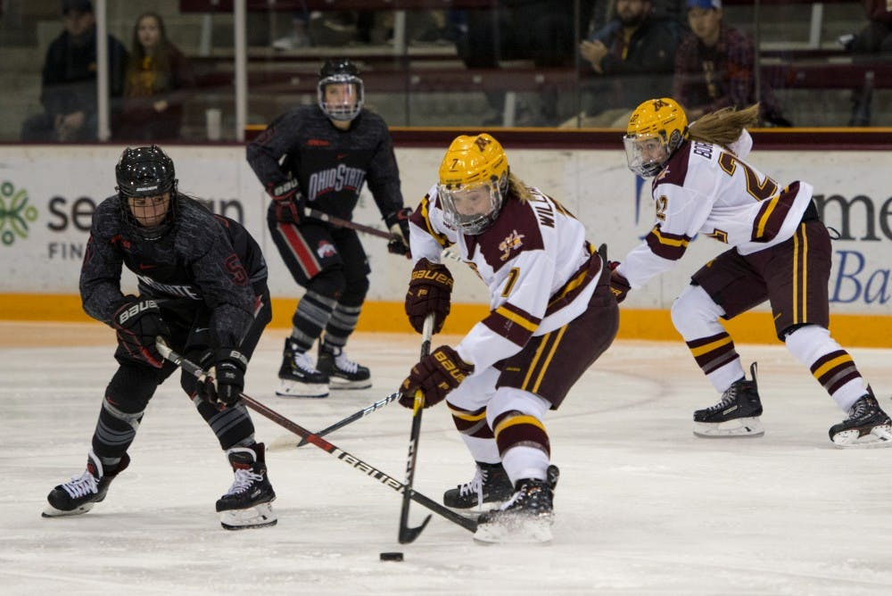 Minnesota splits series against Ohio State