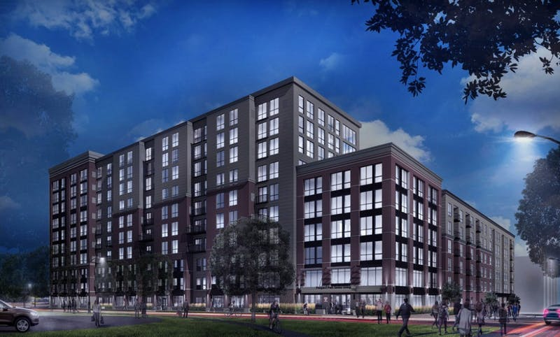 A rendering of The Pillars of Prospect Park, a new senior living complex.