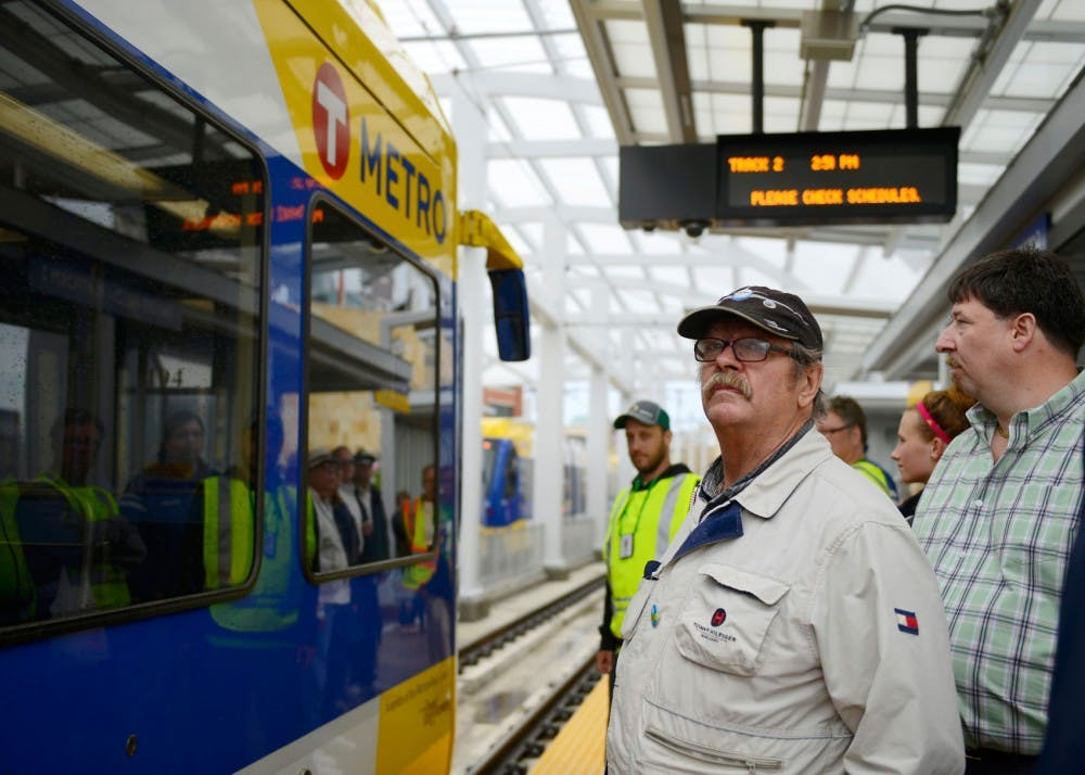 Green Line opens to gray skies