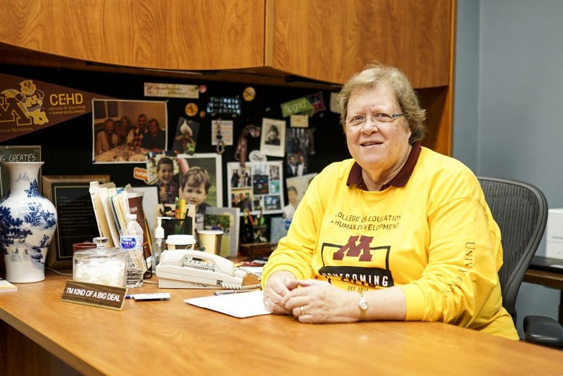 College of Education and Human Development Dean Jean Quam poses for a portrait in her office on Friday, Oct. 4.