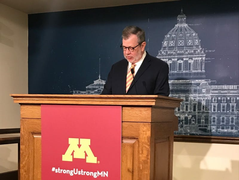 University of Minnesota President Eric Kaler speaks at the Minnesota Capitol on Wednesday, Jan. 9.